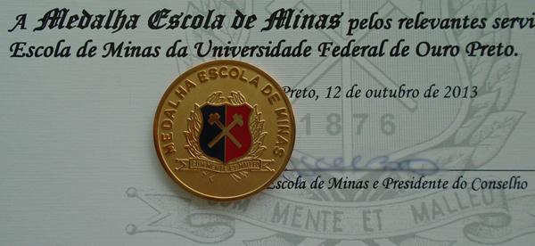 Agraciados com medalha Escola de Minas